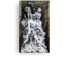 Barcelona Statue Canvas Print