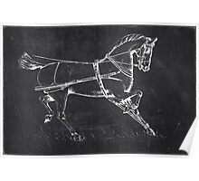 Chalkboard Horse Poster
