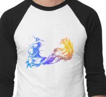 Final Fantasy 10 logo X Men's Baseball ¾ T-Shirt