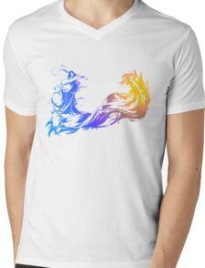 Final Fantasy 10 logo X Mens V-Neck T-Shirt