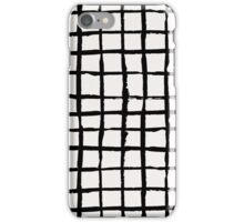 Black Paint Grid Pattern iPhone Case/Skin