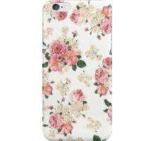 Floral Pink Vintage Pastel iPhone Case iPhone Case/Skin