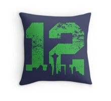 Seattle City of 12 Throw Pillow