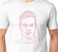 One line face Unisex T-Shirt