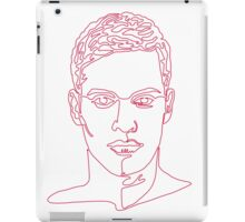 One line face iPad Case/Skin