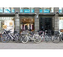 Copenhagen City of Bicycles Photographic Print