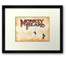 Monkey Island - Treasure found! Framed Print