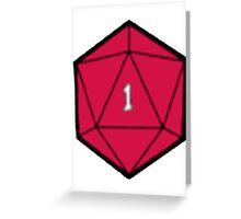 D20 Disasters Greeting Card