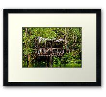 Ruins of a house Framed Print