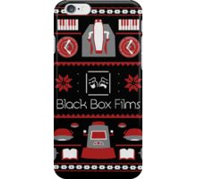 Black Box Films Christmas Sweater (Red) iPhone Case/Skin