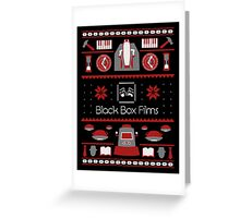 Black Box Films Christmas Sweater (Red) Greeting Card