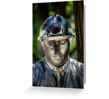 Silent man Greeting Card