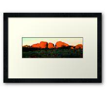 Kata Tjuta Sunset Panoramic NT Framed Print