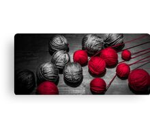 Red balls of thread Canvas Print