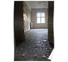 Abandoned asylum. Old Lier Mental Hospital, Norway. Built 1921, closed 1985.  Poster