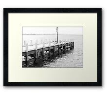 Black and White Geelong Pier Framed Print