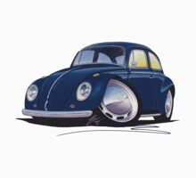 VW Beetle Dark Blue by Richard Yeomans