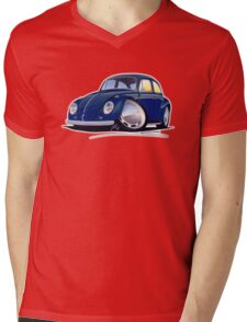 VW Beetle Dark Blue Mens V-Neck T-Shirt