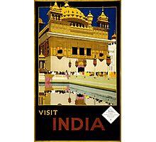 Vintage Visit India Golden Temple Travel Photographic Print