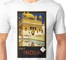 Vintage Visit India Golden Temple Travel Unisex T-Shirt