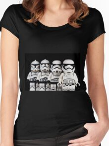 Evolution of a stormtrooper Women's Fitted Scoop T-Shirt