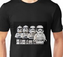 Evolution of a stormtrooper Unisex T-Shirt