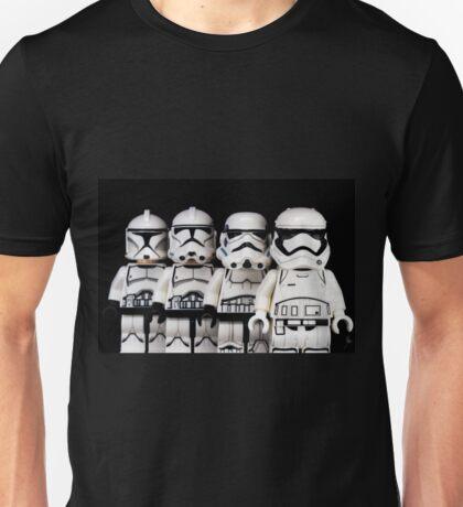 Evolution of a stormtrooper Unisex T-Shirt