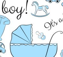 Congratulations! It's a boy! Sticker