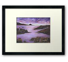 Lavender Lakes Framed Print