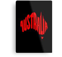 Australia in the shape of Australia Metal Print