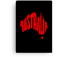 Australia in the shape of Australia Canvas Print
