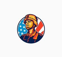 American Serviceman Soldier Flag Retro Unisex T-Shirt