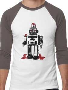 Robots and Nature Men's Baseball ¾ T-Shirt