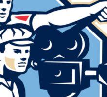 Cameraman Vintage Camera Soundman Boom Retro Sticker