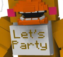 Five Nights At Freddy's - Minecraft Chica Sticker