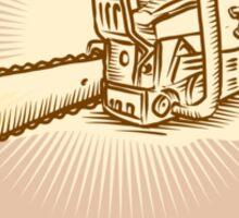 Chainsaw Lasso Rope Retro Sticker