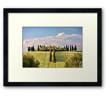 The villa Framed Print