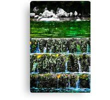 Green water waterfall Canvas Print