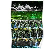 Green water waterfall Poster
