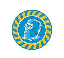 Welder Welding Helmet Retro  by patrimonio