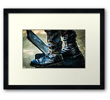 Silent Man III . The Waiting .. Framed Print