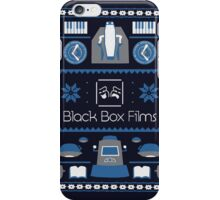Black Box Films Christmas Sweater (Blue) iPhone Case/Skin