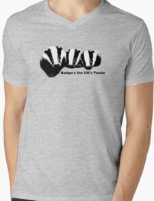 Badgers, the UK's Panda Mens V-Neck T-Shirt