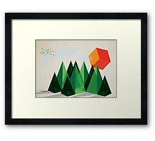 Geo-graphic Framed Print