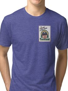 As Tasmanian as Ricky Ponting (breast pocket) Tri-blend T-Shirt
