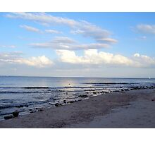 clouds over lake michigan Photographic Print