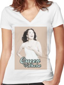 Sandra Oh - Queen of Sheba Women's Fitted V-Neck T-Shirt
