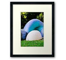 Blue Art Framed Print