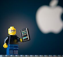 LEGO Steve Jobs and his iPhone by jarodface