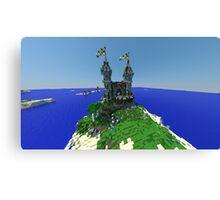 Minecraft Castle Canvas Print